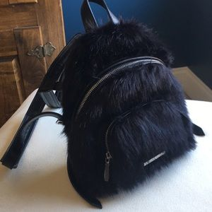 NWT Kendall & Kylie faux fur mini backpack
